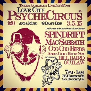 @spindriftwest in San Fran this Thur 03/05/15 w/ fast food snackers Mac Sabbath at Love City $2 drafts!