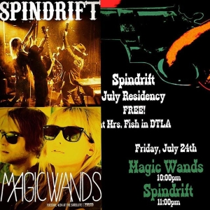 Awesome 2 band bill TONIGHT FREE in DTLA 9pm @magic_wands / @spindriftwest AT @mrsfishLA don't miss out!