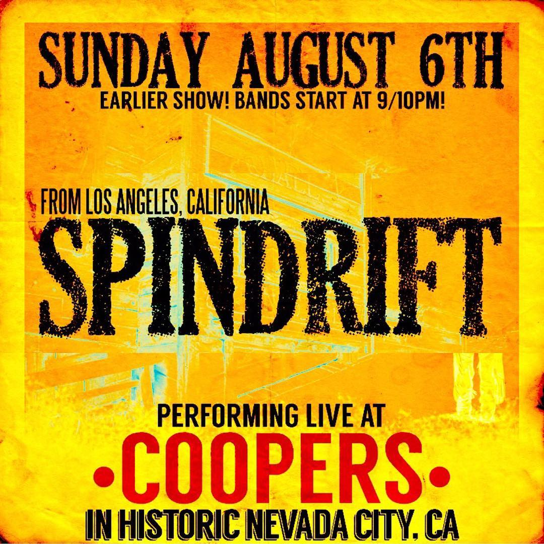 SUN AUG 06 back @coopersaleworks #nevadacity #spindrift #psychedelic #spaghettiwestern #kirpatrickthomas w/ @jz323 drums @gelflinginla Bass/Baritone @rebeccaddavidson gtr