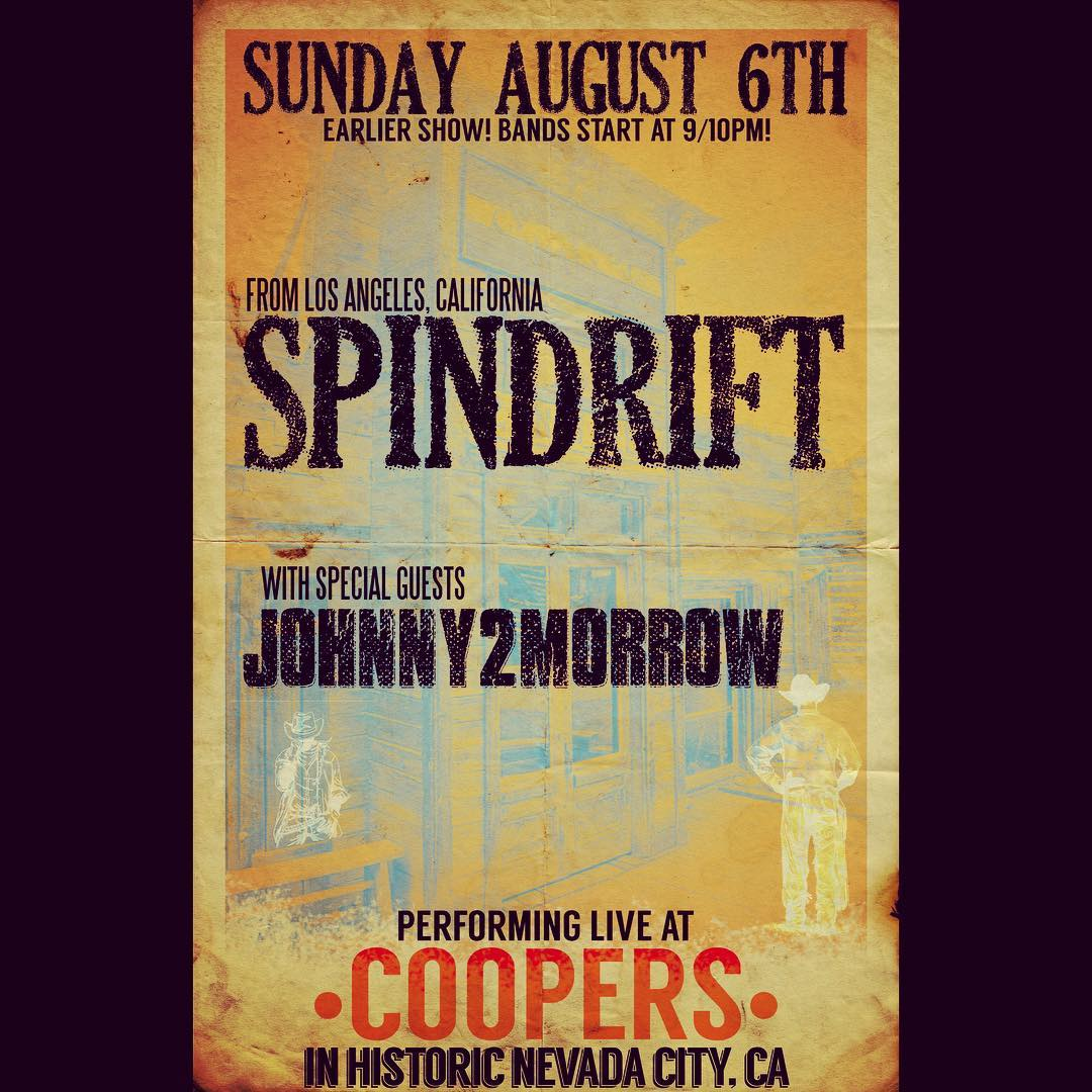 Sun 08/06 10PM @coopersaleworks @spindriftwest @savethenationalhotel #westernstyle