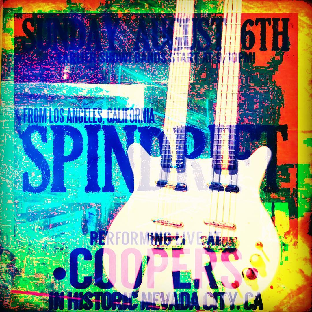 9:30pm 08/06 TONIGHT @coopersaleworks #nevadacity #grassvalley #newlineup #spindrift