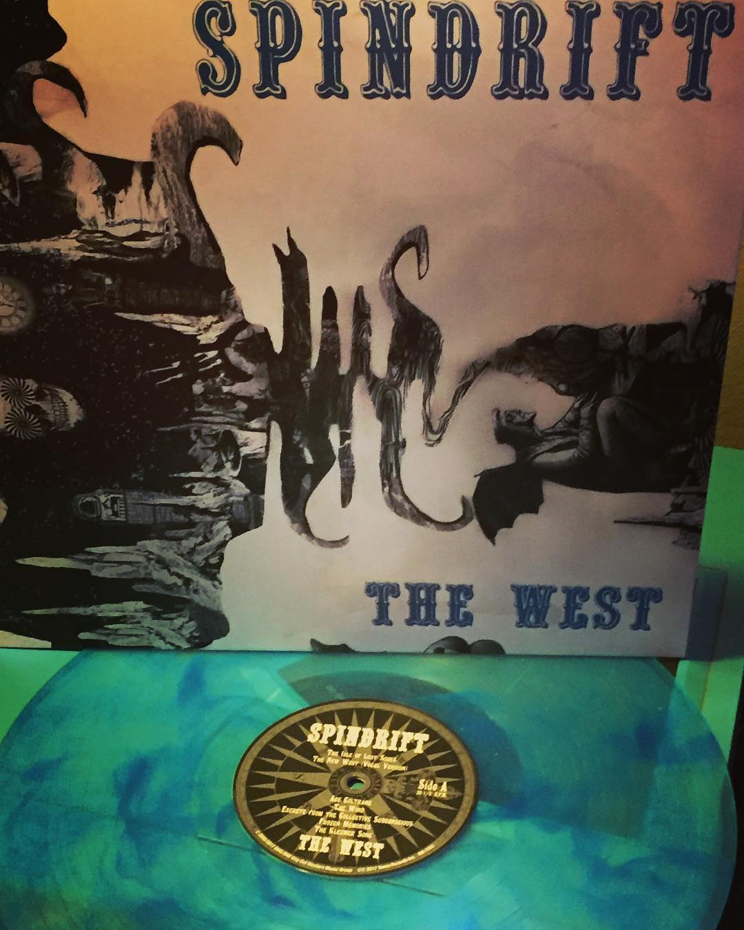 NOW in trippy blue vinyl! THE WEST LP remastered by @spindriftwest @dennismoodymusic • Released by @xemu_records_official #collectorsedition #spindrift #thewestisthebest
