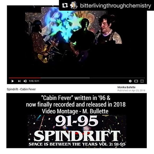 Old school? New school? We cut all those classes #spindrift 91-95 • The first 8 recordings + 1 new one! Out now! Mastered by @dennismoodymusic @ethanallenpresents Art by @corygladfelter video by @bitterlivingthroughchemistry