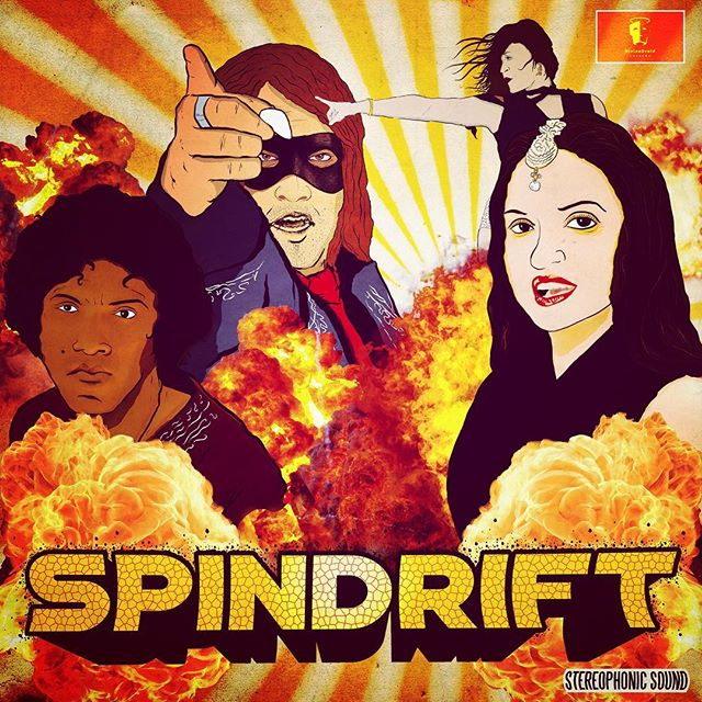 This SAT 09.15 We'll have new vinyl via @divinedroidrecords @pappyandharriets #bollywood feat vocals by @mssapnagandhi @slycecoder art by @carlosrossi #spindrift TIX AT  http://www.pappyandharriets.com/event/1748137-spindrift-deadbolt-sash-pioneertown/ @deadboltband @sashthebash_inaflash