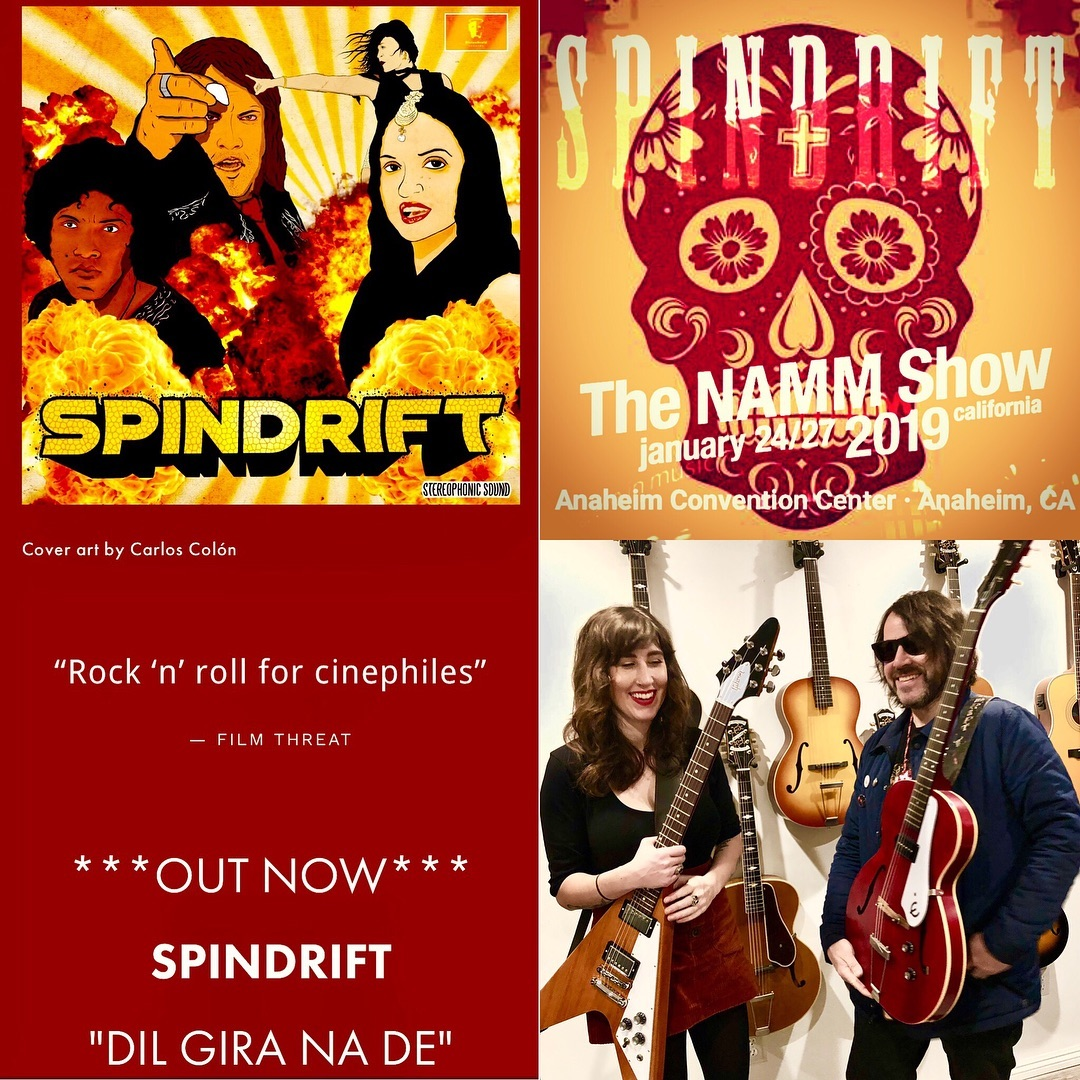Ready for @thenammshow 2019 July27 12:30pm #gibson stage!!!??Thx @gibsonguitar for the #gibsonflyingv & @epiphone straight from ???#gibsonguitars showroom! ??! ??New Single out now ???@divinedroidrecords • Currently Booking a Spring West Coast Tour ??????@spindriftwest @rebeccaddavidson @jz323 @trashbaghashtag #e335 #spindriftwest #namm2019 What a way to start a #happynewyear2019
