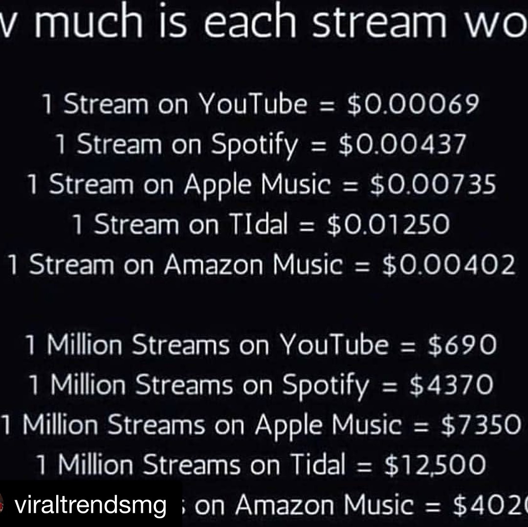 In case your wondering. Some of you were asking. #broken #musicindustry #screwed