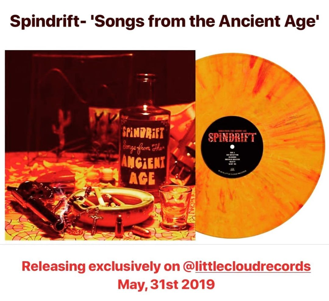 "OUT 05.31.19 @littlecloudrecords  PRE-ORDER  @spindriftwest https://spindriftla.bandcamp.com/#songsfromtheancientage digital or ""Whiskey & Blood"" soaked limited run VINYL! Remastered • New Art • 1st time on vinyl • +2 TRACKS! #eastmeetswest #psychpop #psychedelic #electrofunk #noiserock #alternative #spacerock #garagerock #punkrock #spaghettiwestern • EAST COAST RELEASE SHOW 06.01.19 @argillabrewingco #newarkde w/ @maxpainandthegroovies"