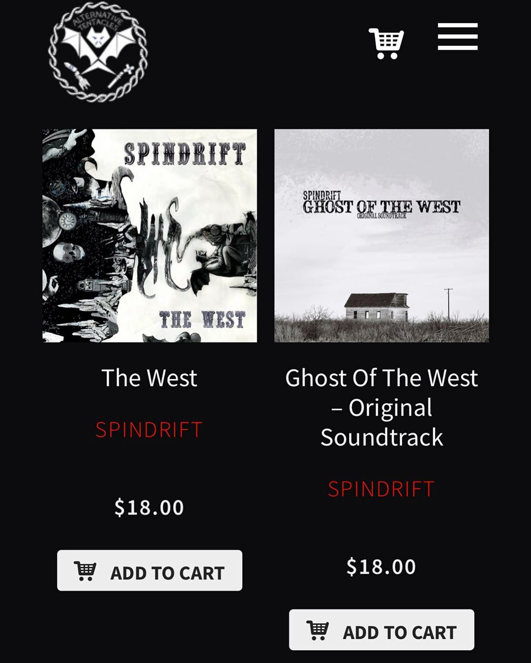 DYK? You can pick up #spindrift #vinyl including our new #bloodandwhiskey #songsfromtheancientage limited run @alternativetentacles store. ?? ????????????????????????@spindriftwest #spindriftwest #psychrock #spaghettiwestern #grindhouse #alternativetentacles
