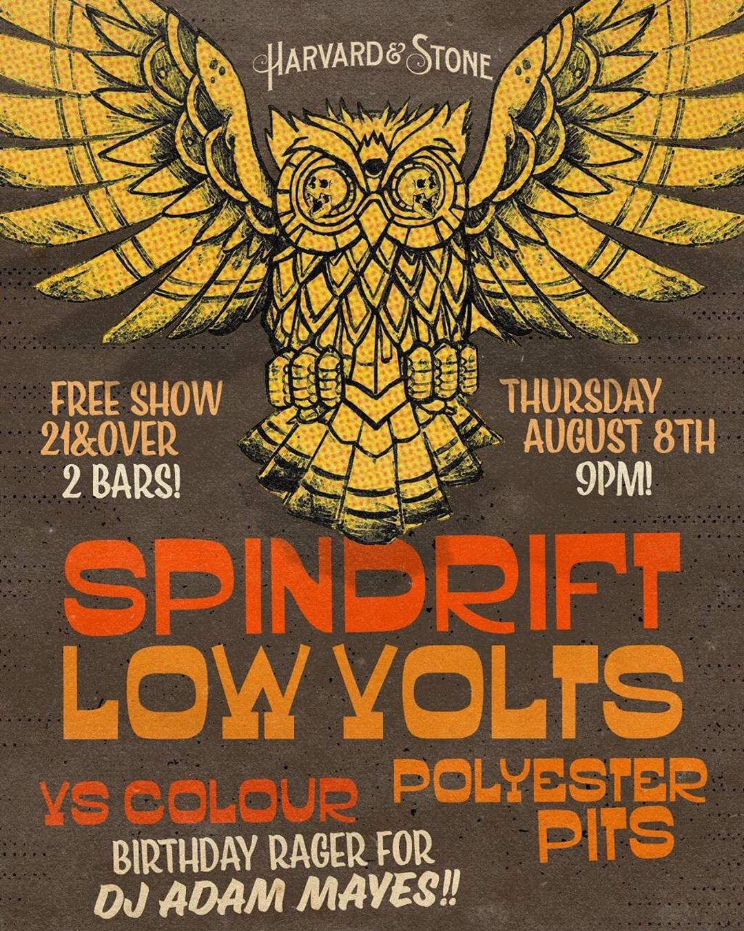 Thr in LA 08.07.19 @harvardandstone @lowvolts @vscolour @polyesterpits @bobby_bones23 joins us! @dj_del_scorcho #bdayblowout Pick up new #songsfromtheancientage #bloodandwhiskey #limitededition #onvinyl @rebeccaddavidson @jz323 @trashbaghashtag @spindriftwest @spindrift @littlecloudrecords @alternativetentacles @teepeerecords @divinedroidrecords @xemu_records_official