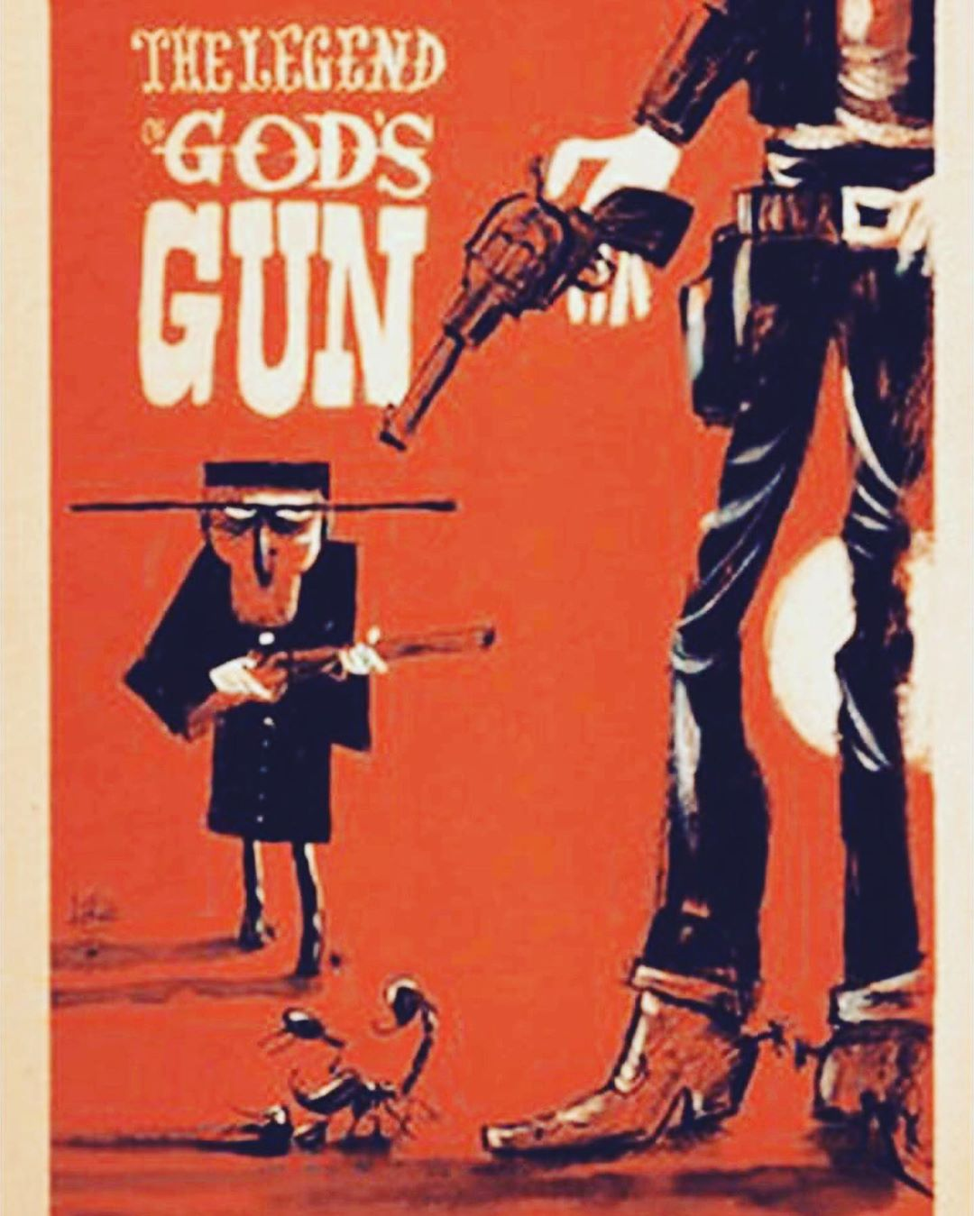 Wondering who did this poster? #thelegendofgodsgun #spindrift @rio_daddy @california_drifter @spindriftwest #spaghettiwesterns @almeriacine @awff_oficial #filmposter #westernfilm @bobby_bones23 @colinambulance @thunderricky