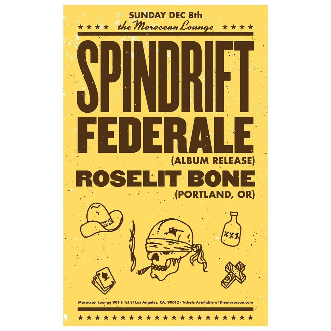 Sun 12.08.19 @moroccanlounge last show of the decade w/ Portland friends @federale_pdx @roselitbone  TIX https://www.themoroccan.com/e/spindrift-federale-roselit-bone-82575422311/ New album 2020 on @alternativetentacles #federale #roselitbone #spindrift #spindriftwest  #moroccanlounge #dtla #spaghettiwestern #cinematic #psychedelic #soundtracks #classicsoundtracks @teepeerecords @divinedroidrecords @xemu_records_official @littlecloudrecords @jz323 @rebeccaddavidson @latimes_entertainment @dennismoodymusic @laweekly @trashbaghashtag @djcarlosrossi